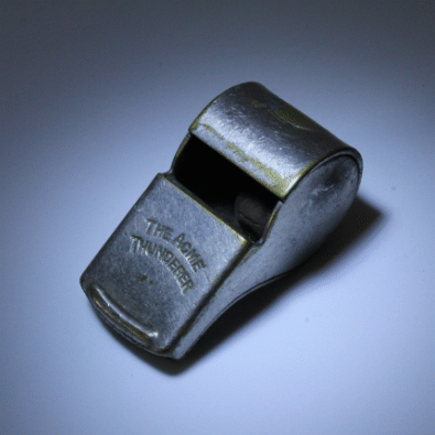 An umpires whistle