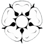 A white rose, the YHA logo
